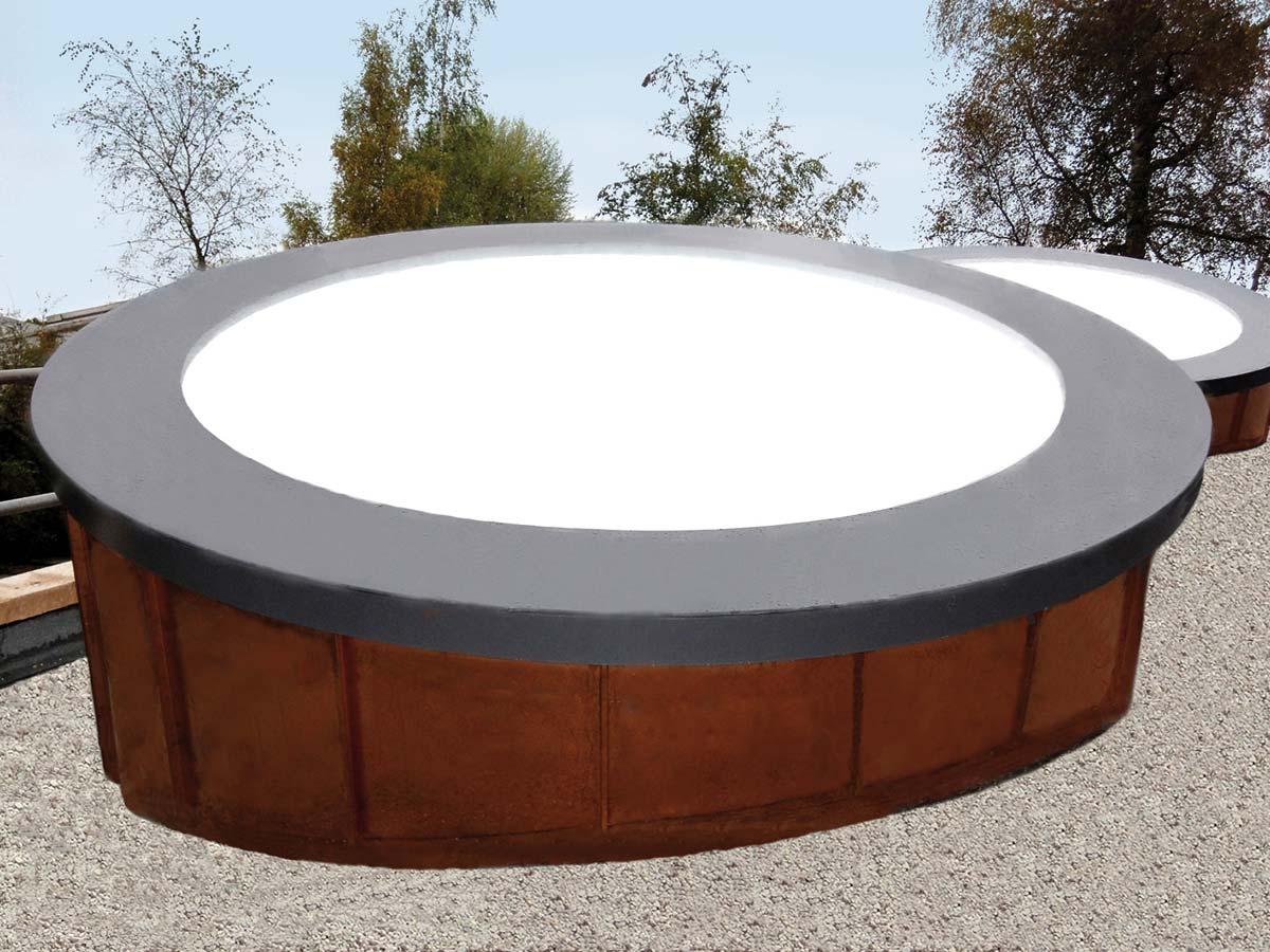 rundes dach oblicht referenzen joos metall stahlbau. Black Bedroom Furniture Sets. Home Design Ideas